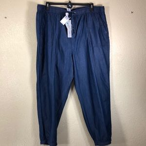 Workshop Republic Pants Denim Blue NWT 3X